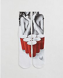 Sexy Beer Pong Socks