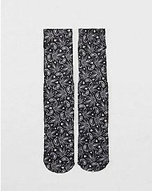 Paisley Leaf Socks