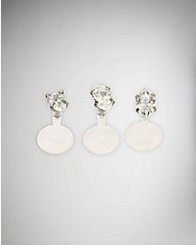 Clear Gemstone Labret 3 Pack - 16 Gauge