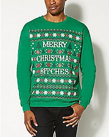 Merry Christmas Bitches Fleece Sweatshirt