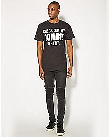Check Out My Zombie Over the Head T shirt