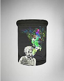 12 oz Smoking Einstein Black Storage Jar