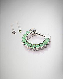 Clicker Septum and Nose Ring 3 Pack- 16 Gauge