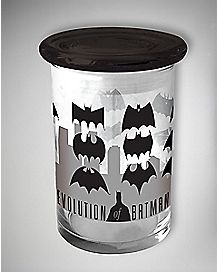 Batman Storage Jar - 12 oz Grey Glass