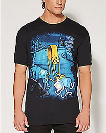 Jake Melting Adventure Time T shirt