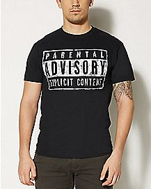 Explicit Content Parental Advisory T shirt