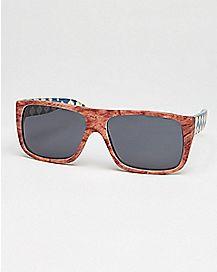 Tribal Sunglasses Square Wood