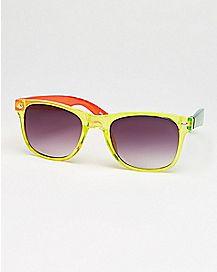 Clear Rasta Square Sunglasses