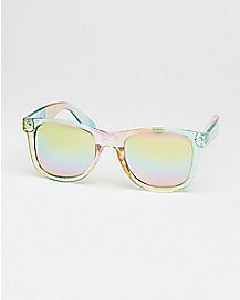 Clear Rainbow Square Sunglasses