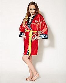 Silky Bombshell Wonder Woman DC Comics Robe