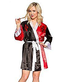 Silky Bombshell Harley Quinn DC Comics Robe