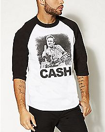 Johnny Cash Raglan T shirt