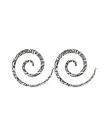 Spiral Stretcher Taper Plug 2 Pack- Black & White