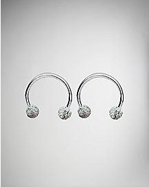 Glitter Horseshoe Ring 2 Pack - 16 Gauge