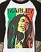 Rasta Dreads Bob Marley Raglan T shirt