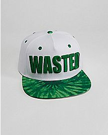 Tie Dye Wasted Snapback Hat