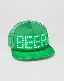Green LED Beer Trucker Hat