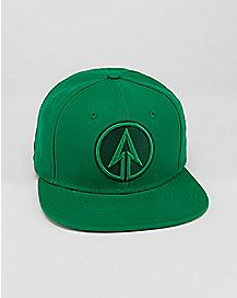 Embroidered Green Arrow Snapback Hat