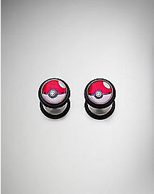 Pokeball Pokemon Fake Plug 2 Pack - 18 Gauge
