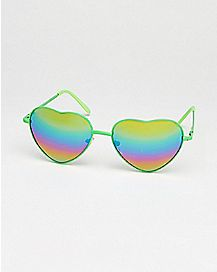 Rainbow Lens Heart Shaped Sunglasses