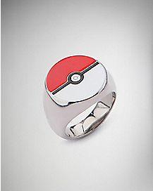 Pokeball Pokemon Ring