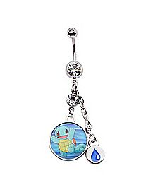 Pokemon Squirtle Dangle Belly Ring - 14 Gauge