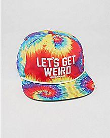 Tie Dye Let's Get Weird Workaholics Snapback Hat