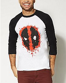 Splat Logo Deadpool Raglan T shirt