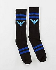 Athletic Blue Stripe Nightwing Crew Socks