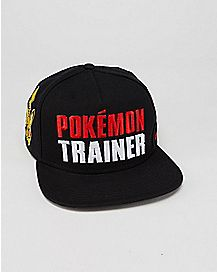 Embroidered Pokemon Trainer Snapback Hat
