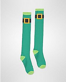 Leprechaun Belt Knee High Socks 2 Pair