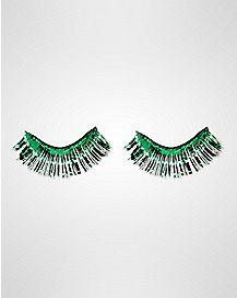 Green False Eyelashes
