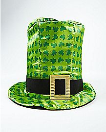 Tall Shamrock Top Hat with Buckle