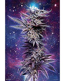 Spaced Out Leaf Poster