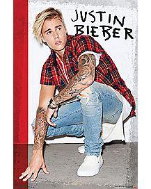 Flannel Shirt Justin Bieber Poster