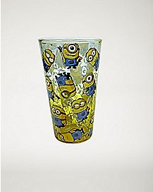 All Over Minions Despicable Me Pint Glass 16 oz