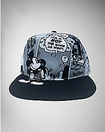 Sublimated Comics Collage Mickey Snapback Hat