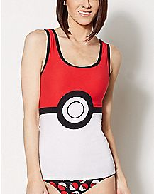 Pokeball Pokemon Tank and Panty Set