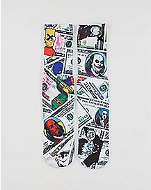 Sublimated Crazy Money Crew Socks