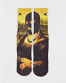 Sublimated Mona Lisa Crew Socks