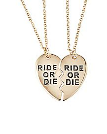 Ride Or Die Best Friends Necklace Set