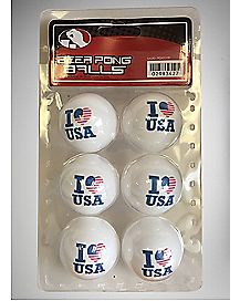 I Heart USA Balls 6 Pack