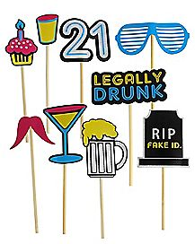 21st Birthday Prop Set