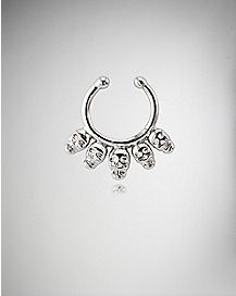 16 Gauge Skull Fake Septum Ring