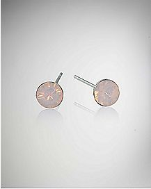 Opal-Effect Rose Water Stud Earrings