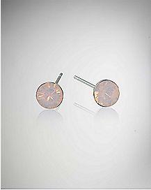 Opal-Effect Rose Water Stud Earrings
