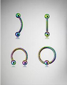 Rainbow Multi Barbell 4 Pack - 16 Gauge