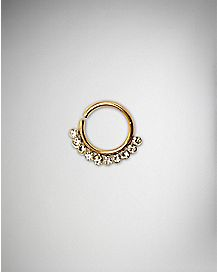 Clear CZ Seamless Nose Ring - 18 Gauge