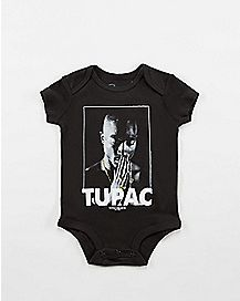 Praying Hands Tupac Baby Bodysuit