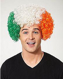 Irish Flag Afro Wig